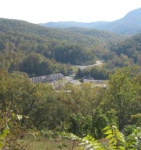 Scene from overlook of Cumberland Gap National Historic Park